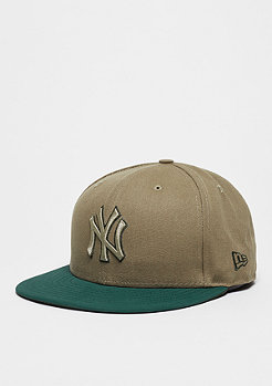 New Era Fitted-Cap Team Duck Canvas 59Fifty MLB New York Yankees stone/green
