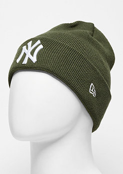 Beanie Essential Cuff MLB New York Yankees rifle green