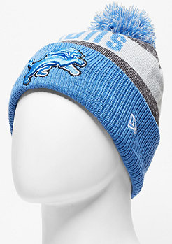 Beanie Sideline Bobble Knit NFL Detroit Lions official