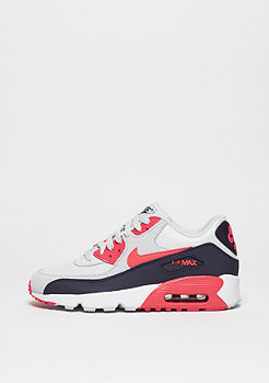 Air Max 90 Leather pure platinum/ember glow/purple