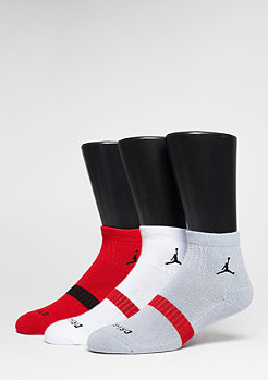 Sportsocken Drifit Low Qtr. 3PPK gym red/wolf grey/white