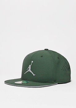 Snapback-Cap Jumpman Perforated grove green/reflective silver