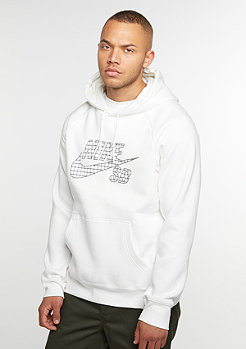 Hooded-Sweatshirt SB Icon Grid Fill ivory/black