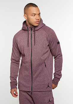 Hooded-Zipper Icon Fleece Full-Zip night maroon/black