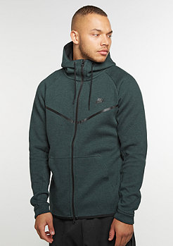 Hooded-Zipper Tech Fleece Windrunner Hoodie seaweed/heather/black
