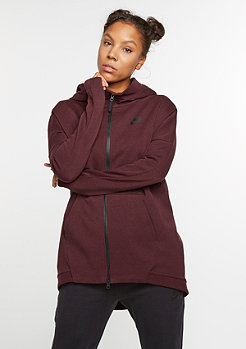 Hooded-Zipper Tech Fleece Cape night maroon/heather/night maroon