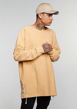Sweatshirt Laced Sides tan