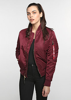 Alpha Industries Übergangsjacke MA-1 VF PM WMN burgundy