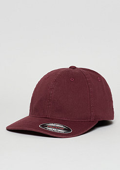 Baseball-Cap Garment Washed Cotton Dad maroon