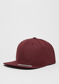 Snapback-Cap Classic maroon/maroon
