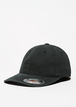 Baseball-Cap Garment Washed Cotton Dad black