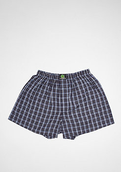 Boxershort Plaid dark blue/blue/white