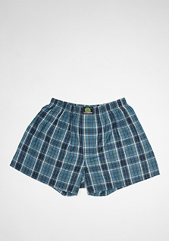 Boxershort Plaid dark blue/turquoise/white