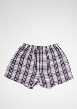 Boxershort Plaid white/purple