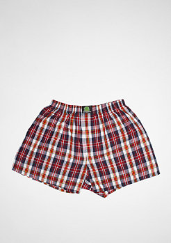 Plaid dark blue/red/white