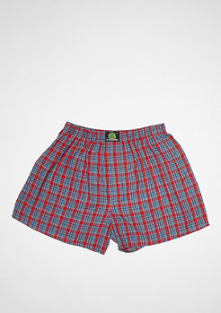 Boxershort Plaid red/light blue