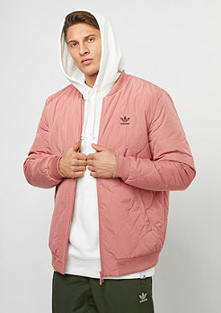 Quilted Bomber raw pink