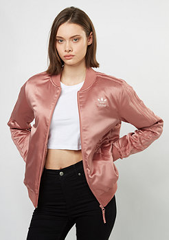 Supergirl Satin Track Top raw pink