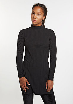 Rib Turtle Dress black