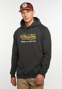 Hooded-Sweatshirt Mach Fleece washed black