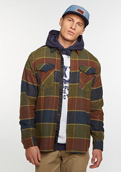 Langarm-Hemd Weldon Flannel olive/brown