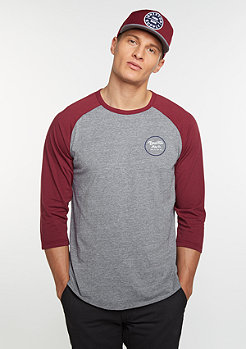 Wheeler 3/4 light heather grey/burgundy