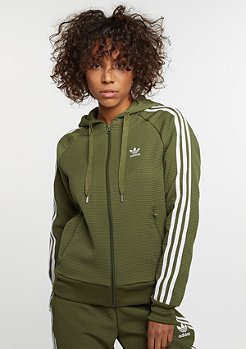 Hooded-Zipper Girl Z olive cargo