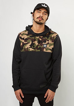 Hooded-Sweatshirt Camo Block HD black