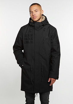Quilt Fur Parka black