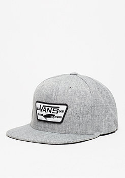 Snapback-Cap Full Patch heather grey