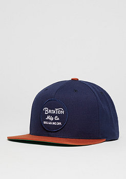 Snapback-Cap Wheeler navy/orange