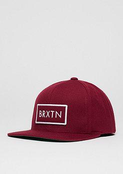 Brixton Snapback-Cap Rift burgundy/white