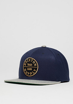 Snapback-Cap Oath III navy/light heather grey