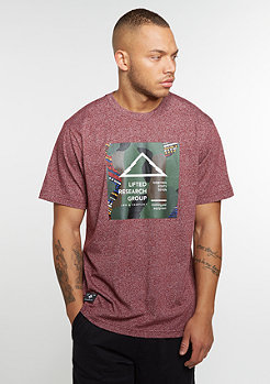 T-Shirt Outdoor Div 47 deep maroon heather