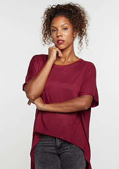 Viscose Oversized HiLo burgundy