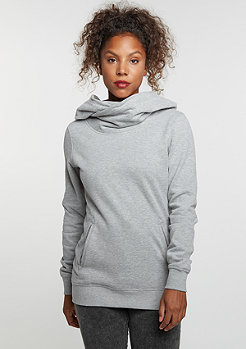 Hooded-Sweatshirt High Neck grey