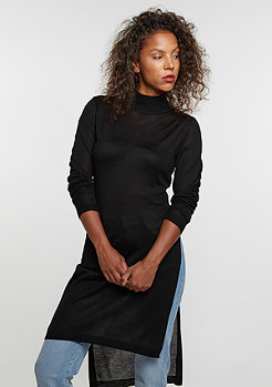 Fine Knit Turtleneck Long black