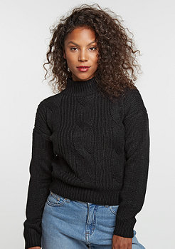 Sweatshirt Short Turtleneck black