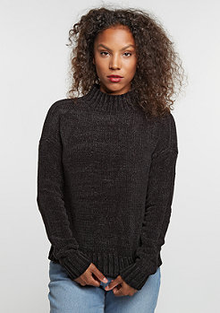 Sweatshirt Chenille Turtleneck black