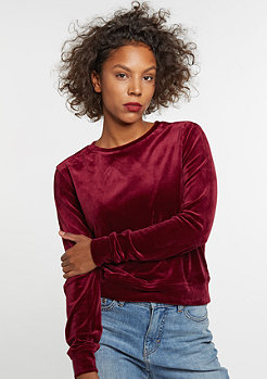 Sweatshirt Short Velvet burgundy