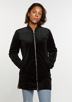 Übergangsjacke Long Velvet black