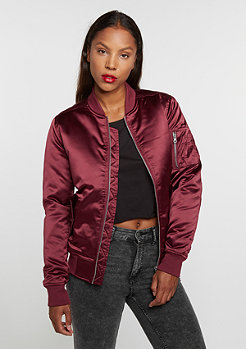 Satin Bomber burgundy