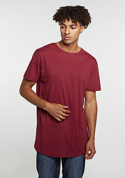 Shaped Long Tee burgundy