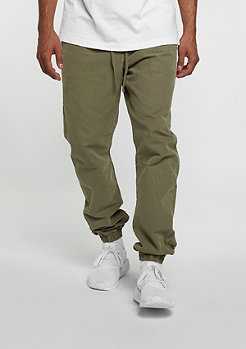 Trainingshose Washed Canvas olive