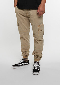 Trainingshose Washed Cargo Twill sand