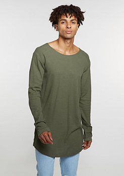 T-Shirt Long Shaped Waffle olive