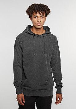Hooded-Sweatshirt Acid Wash Raglan dark grey