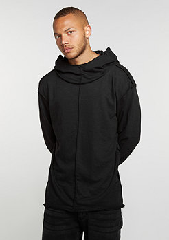 Hooded-Sweatshirt Long Slub Terry Open Edge black
