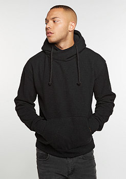 Hooded-Sweatshirt Sherpa High Neck black