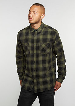 Hemd Checked Flanell 3 black/olive
